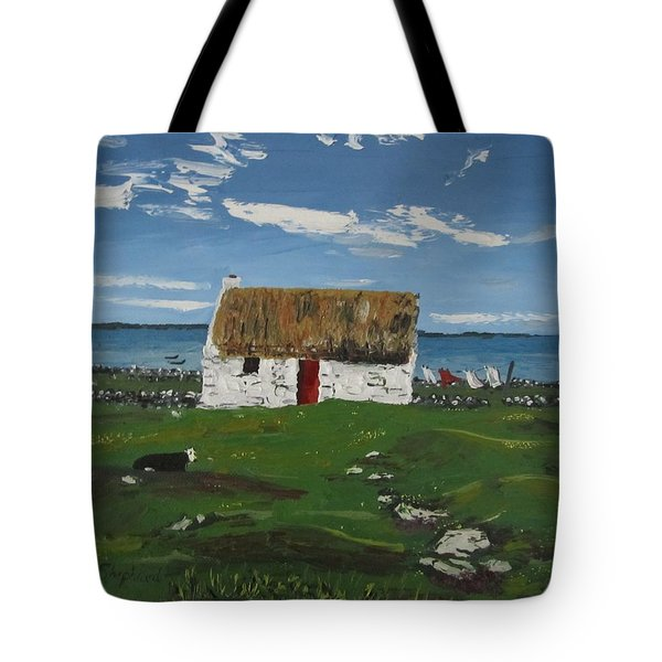 Thatch Cottage Ballyconneelly Connemara Ireland Tote Bag by Diana Shephard