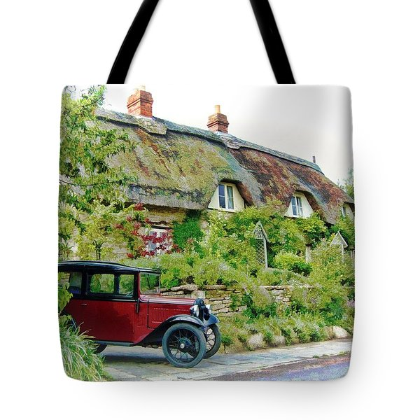 Thatched Cottages At Reybridge Tote Bag
