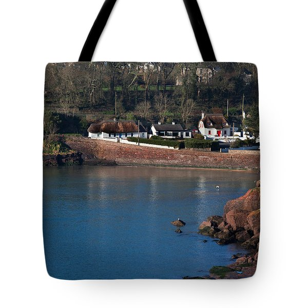 Thatched Cottages, Dunmore Strand Tote Bag