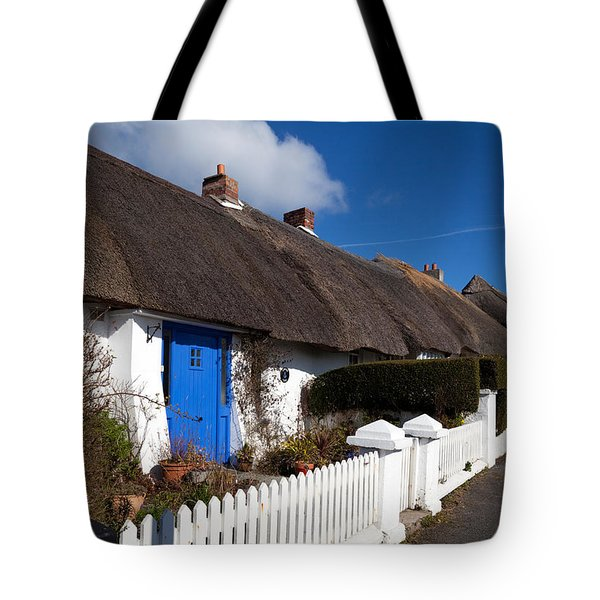 Thatched Cottages Near Dunmore Strand Tote Bag