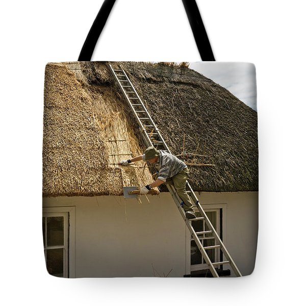 Thatching A Cottage,dunmore East Tote Bag