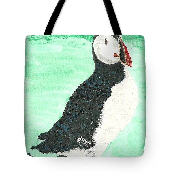 That's Another Puffin Year Over Tote Bag by Tracey Williams