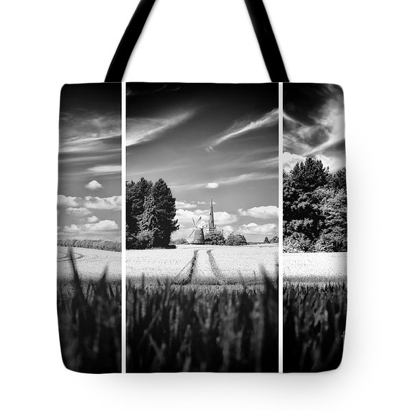 Tote Bag featuring the photograph Thaxted Mill Triptych by Jack Torcello