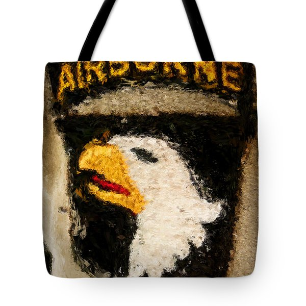 The 101st Airborne Emblem Painting Tote Bag