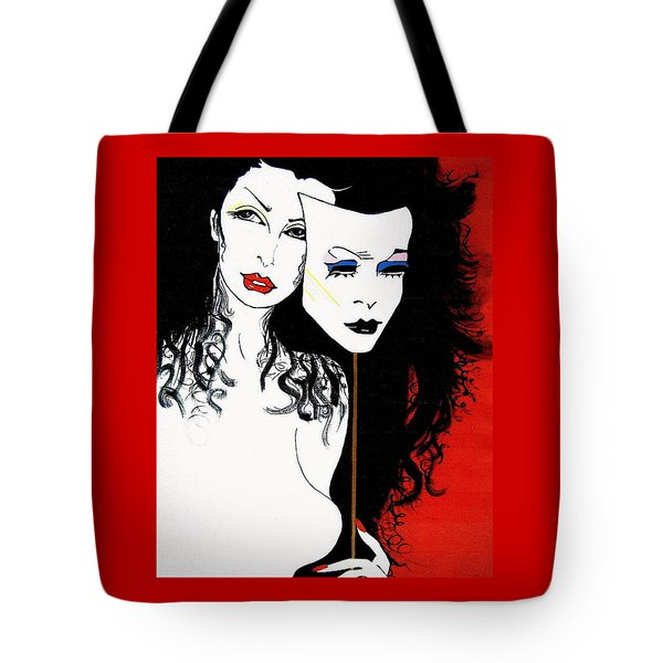 The 2 Face Girl Tote Bag