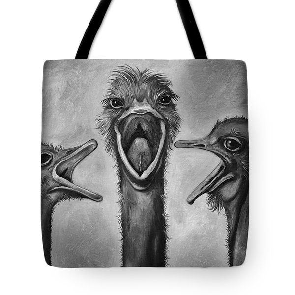 The 3 Tenors Bw Tote Bag by Leah Saulnier The Painting Maniac