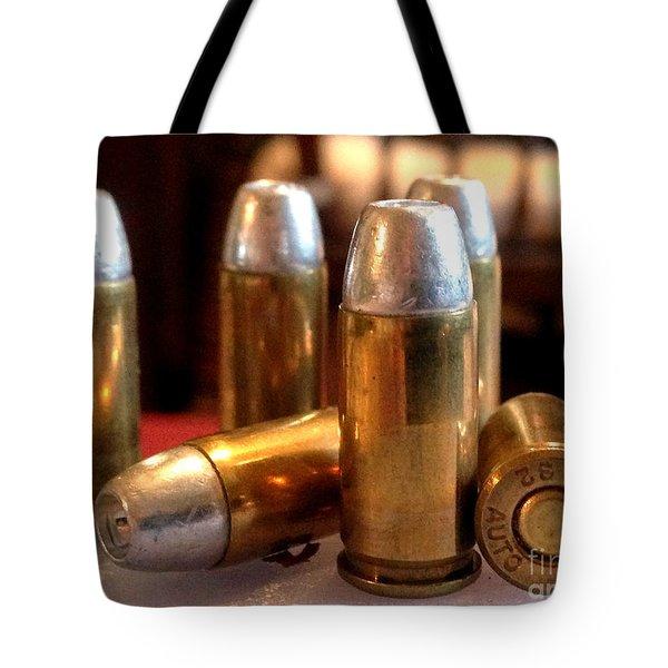 Bullet Art 32 Caliber Hollow Point Bullet 1 Tote Bag by Lesa Fine
