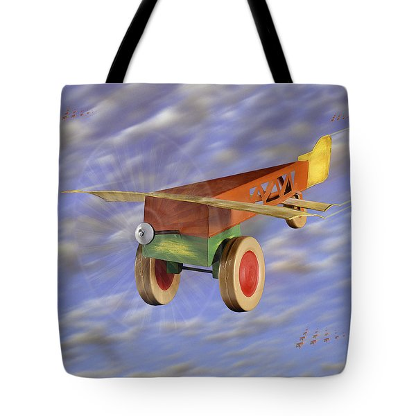 The 356th Toy Plane Squadron 2 Tote Bag by Mike McGlothlen