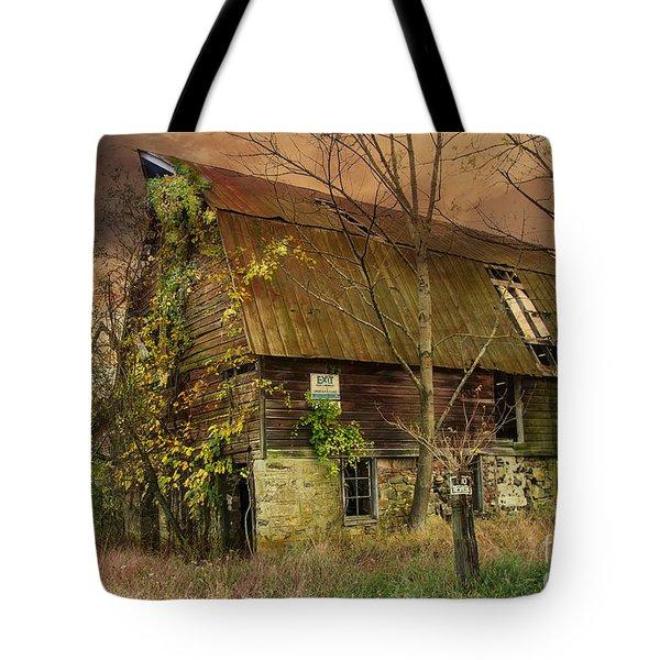 The Abandoned Barn Tote Bag