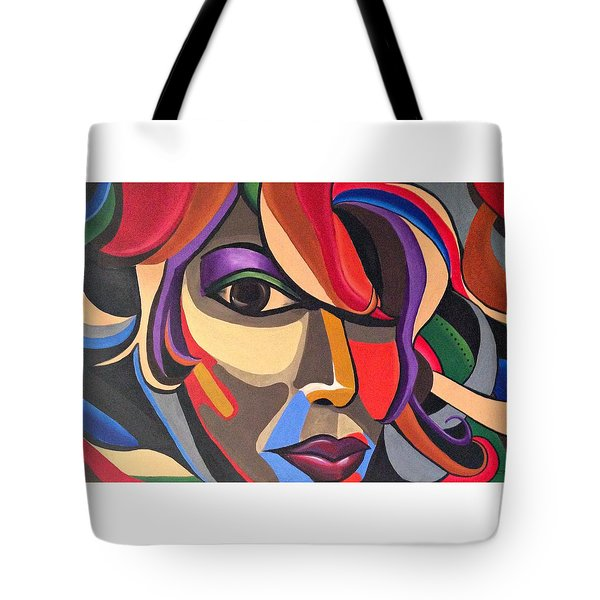The Abstract Ai - Abstract Painting - Self Portrait - Ai P.nilson Tote Bag
