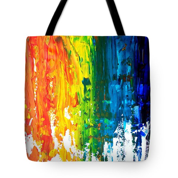 The Abstract Rainbow Beach Series I Tote Bag by M Bleichner