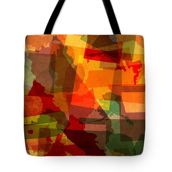 The Abstract States Of America Tote Bag