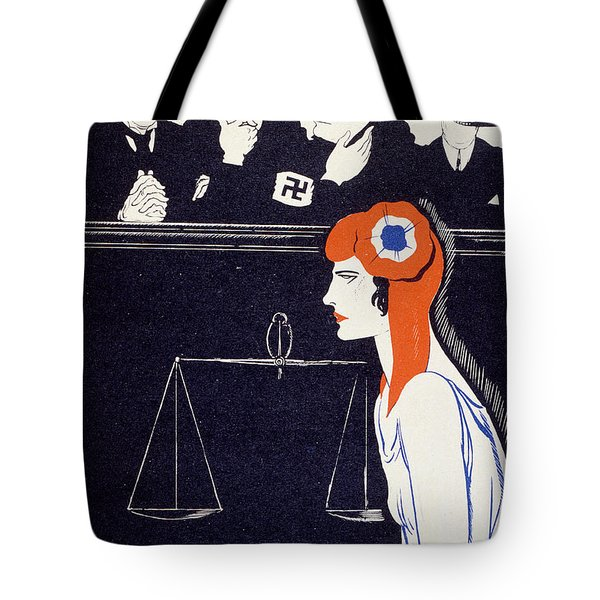 The Accused Tote Bag by Paul Iribe