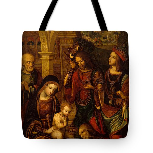 The Adoration Of The Kings Tote Bag by Neapolitan School