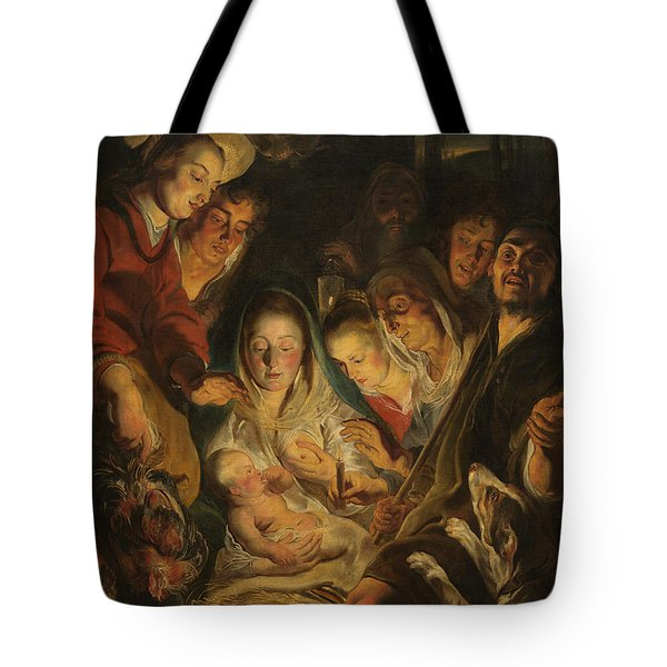 The Adoration Of The Shepherds Tote Bag by Anonymous
