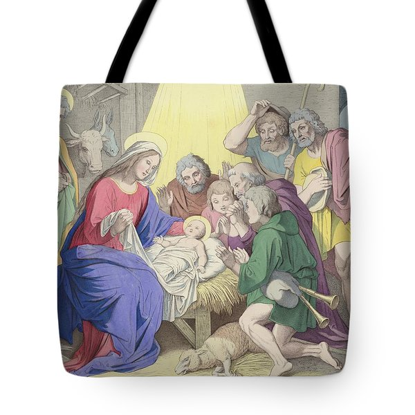 The Adoration Of The Shepherds Tote Bag by German School