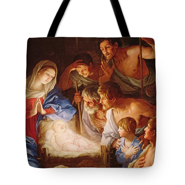 The Adoration Of The Shepherds Tote Bag by Guido Reni