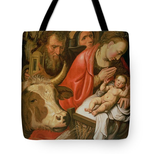 The Adoration Of The Shepherds Tote Bag by Pieter Aertsen