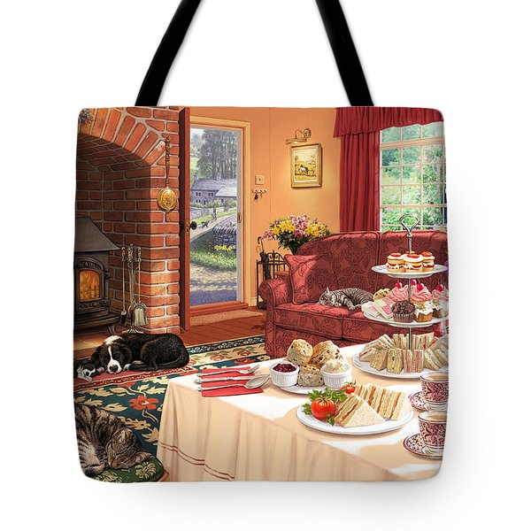 The Afternoon Visitor Tote Bag