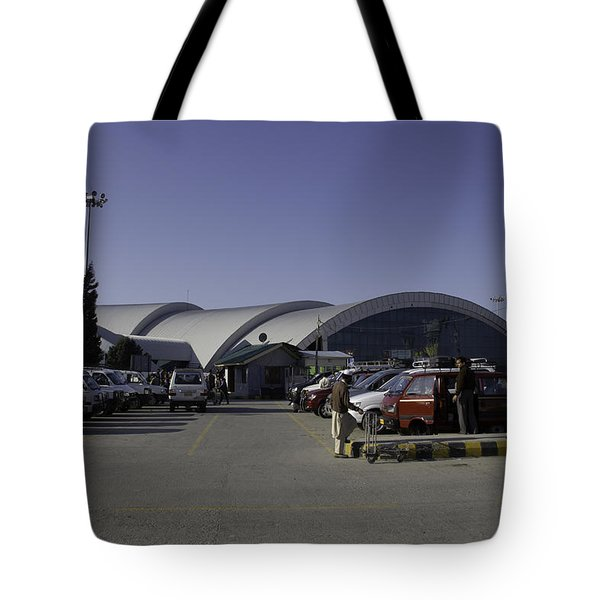 The Airport In Srinagar The Capital Of Jammu And Kashmir Tote Bag by Ashish Agarwal