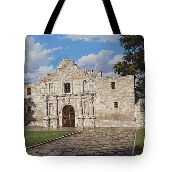 Tote Bag featuring the painting The Alamo by Kyle Wood