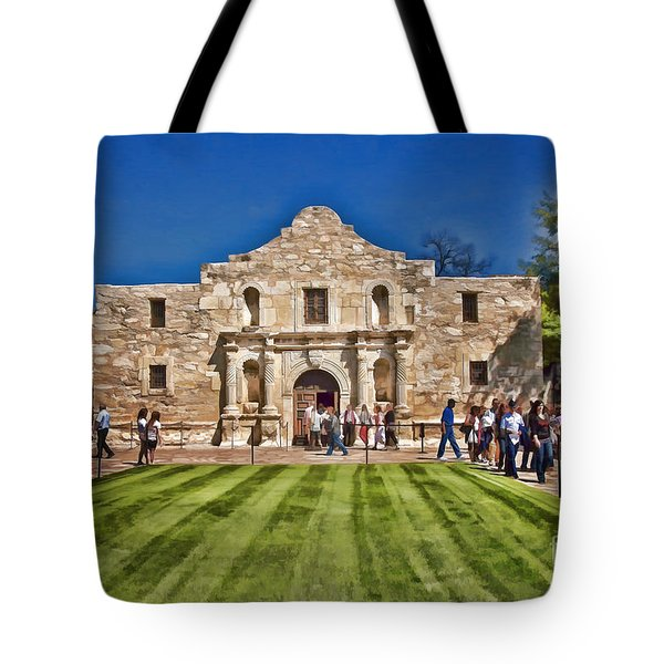 The Alamo Paintography Tote Bag