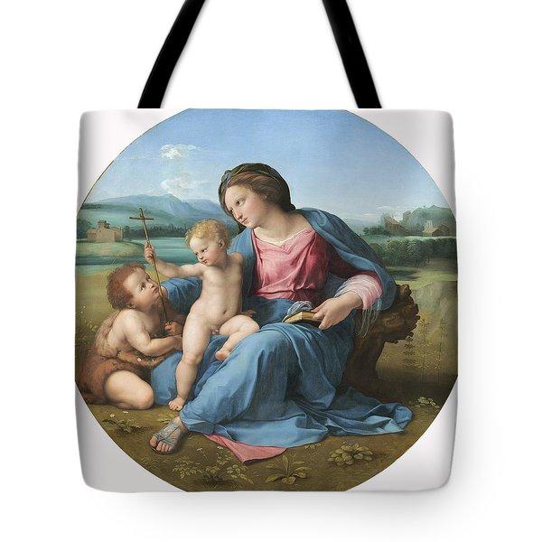 The Alba Madonna Tote Bag by Raffaello Sanzio of Urbino