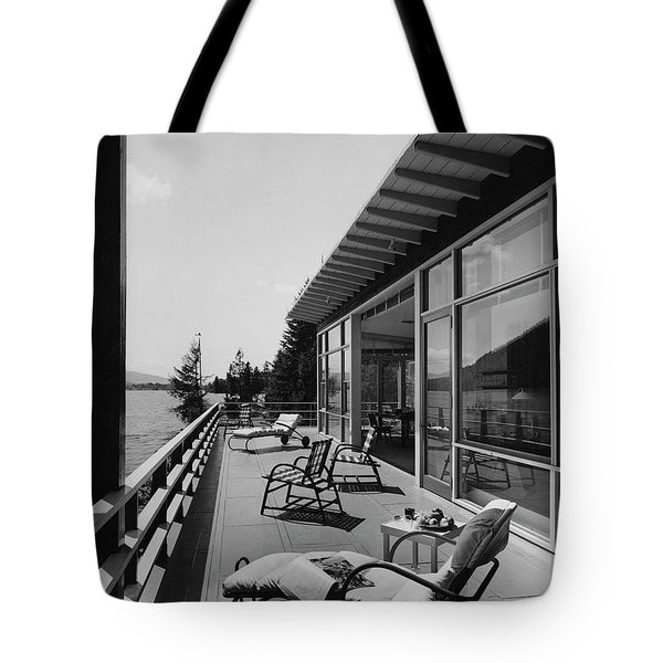 The Alfred Rose Lake Placid Summer Home Tote Bag