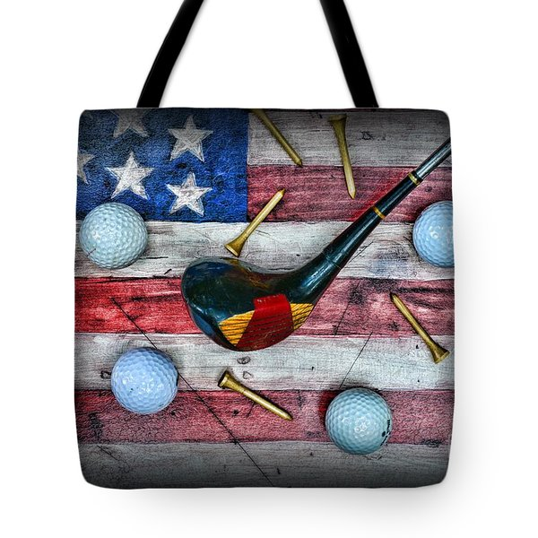 The All American Golfer Tote Bag by Paul Ward