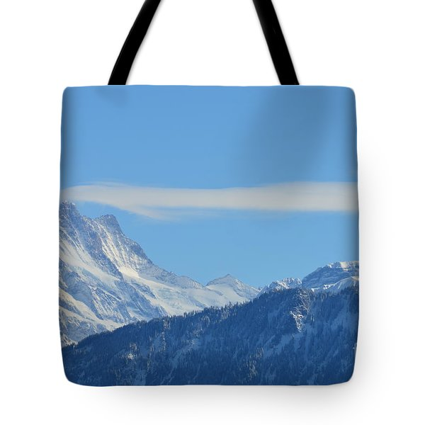 The Alps In Azure Tote Bag by Felicia Tica