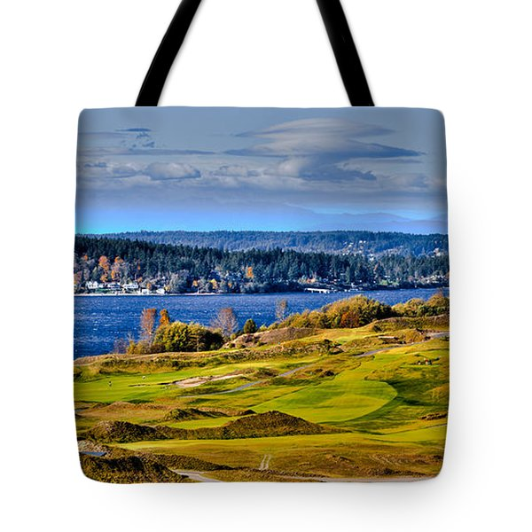 The Amazing Chambers Bay Golf Course - Site Of The 2015 U.s. Open Golf Tournament Tote Bag