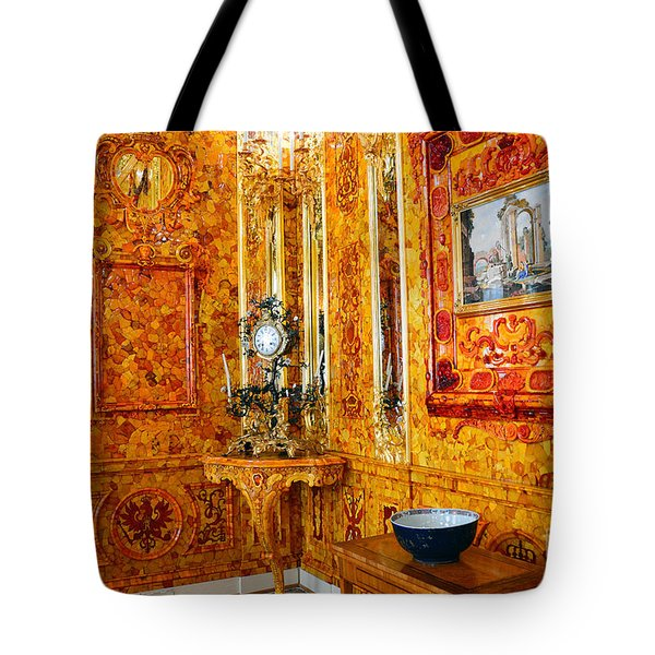 The Amber Room At Catherine Palace Tote Bag
