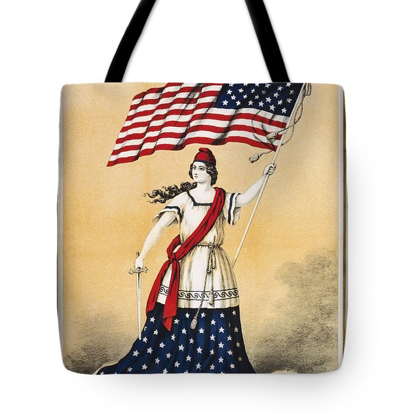 The American Flag A New National Lyric Tote Bag by Aged Pixel