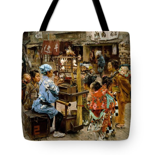 Tote Bag featuring the painting The Ameya by Robert Frederick Blum