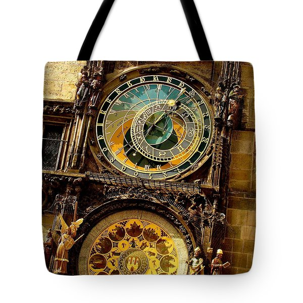 The Ancient Of Clocks Tote Bag by Ira Shander