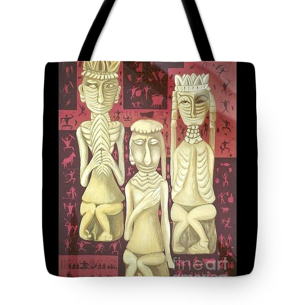 Tote Bag featuring the painting The Ancient Wedding by Fei A