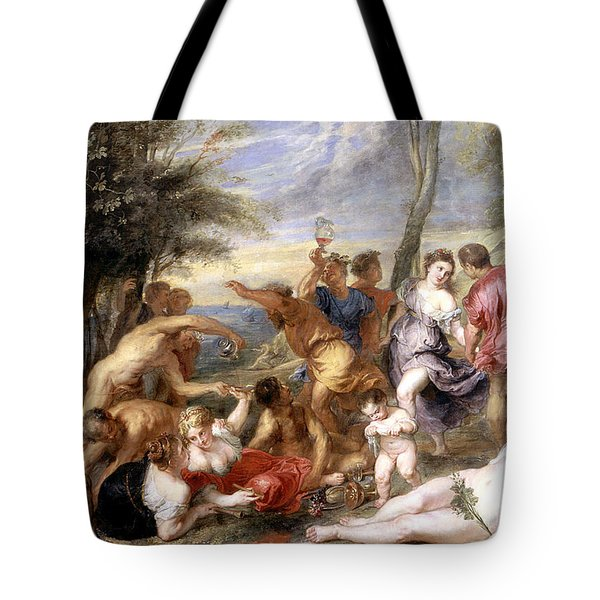 The Andrians A Free Copy After Titian Tote Bag by Peter Paul Rubens