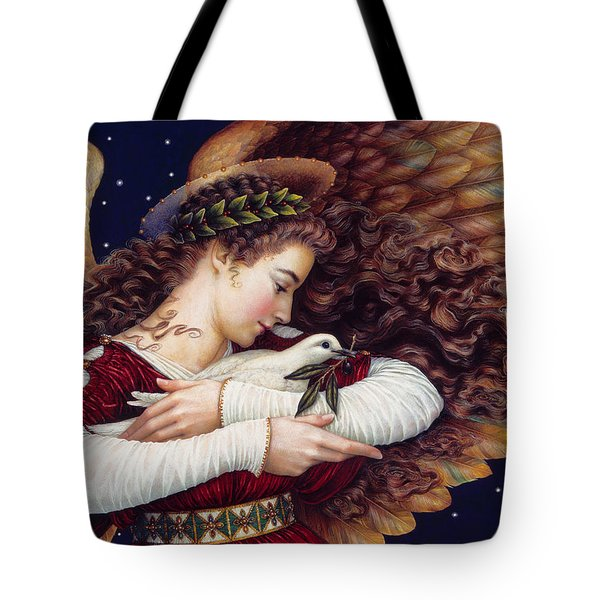 The Angel And The Dove Tote Bag