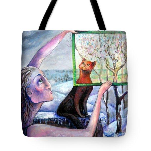 The Angel Of February Tote Bag by Elisheva Nesis