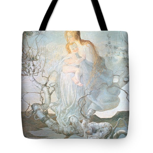 The Angel Of Life Tote Bag by Giovanni Segantini
