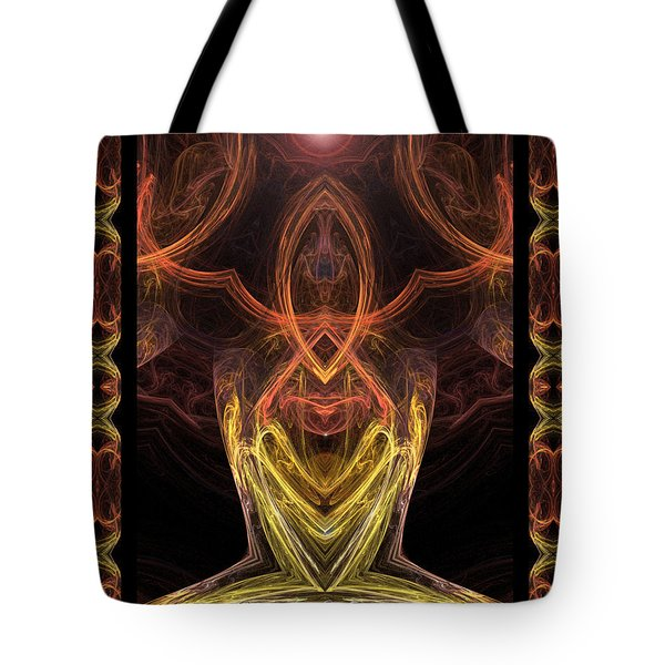 The Angel Of Meditation Tote Bag