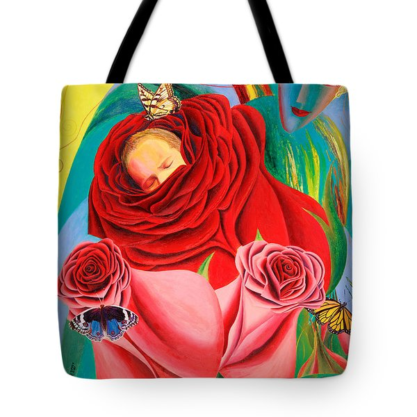 The Angel Of Roses Tote Bag