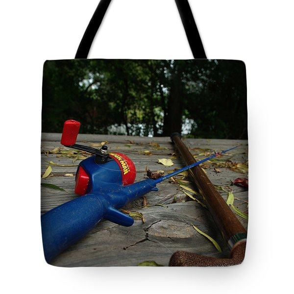 Tote Bag featuring the photograph The Anglers by Peter Piatt