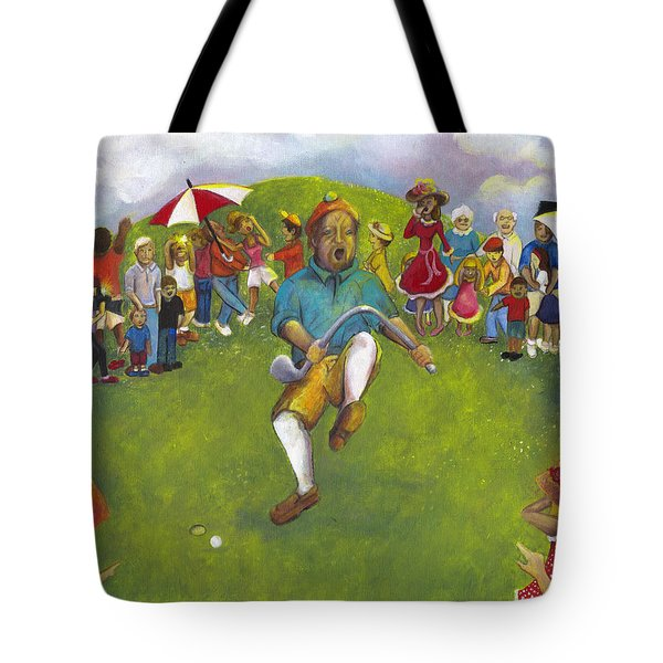The Angry Golfer  Tote Bag