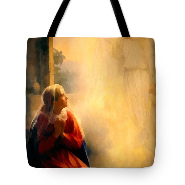 The Annunciation Tote Bag by Carl Bloch
