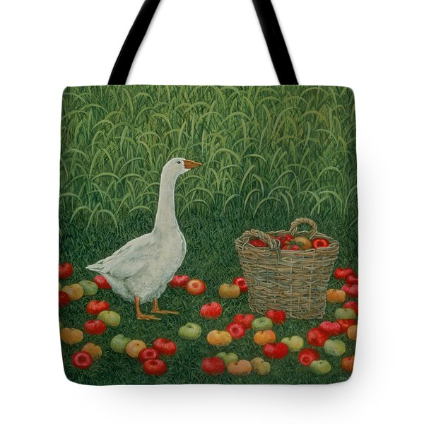 The Apple Basket Tote Bag by Ditz