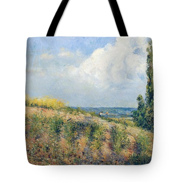 The Approaching Storm Tote Bag by Camille Pissarro