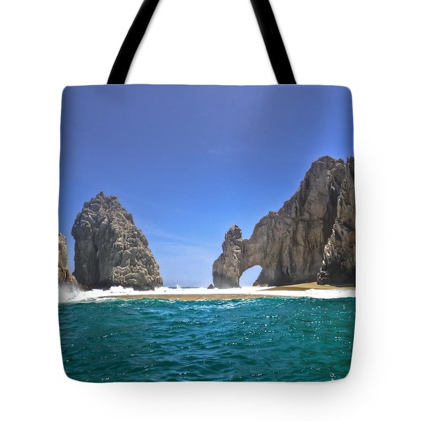 Tote Bag featuring the photograph The Arch  Cabo San Lucas On A Low Tide by Eti Reid