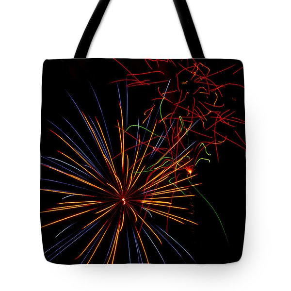 The Art Of Fireworks  Tote Bag by Saija  Lehtonen