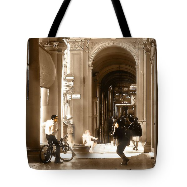 The Art Of Love Italian Style Tote Bag